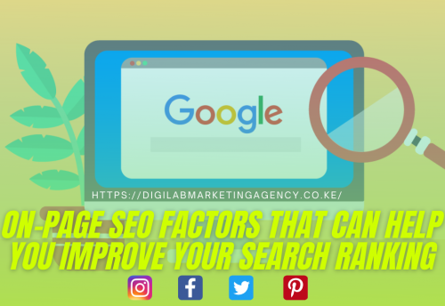 on-page SEO factors that can help you improve your search ranking