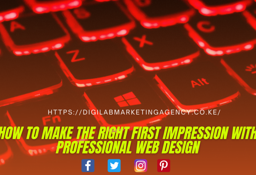 How to Make the Right First Impression with Professional Web Design